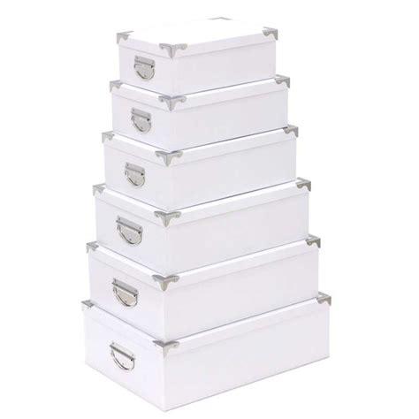 set de 6 boites de rangement quot blanc quot
