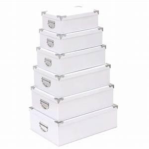 Boite De Rangement : set de 6 boites de rangement blanc ~ Teatrodelosmanantiales.com Idées de Décoration