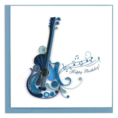quilled electric guitar greeting card shop  symphony
