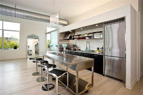 Center Islands In Kitchens - the best 24 ideas of one wall kitchen layout and design