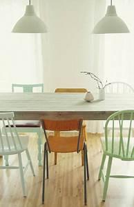 Vert D Eau Couleur : salle manger couleur vert d 39 eau et parquet ch ne clair ~ Mglfilm.com Idées de Décoration