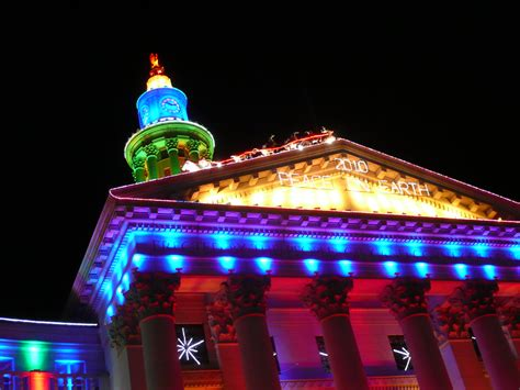 xmas lights in miami dade county denver co city and county building lights flickr