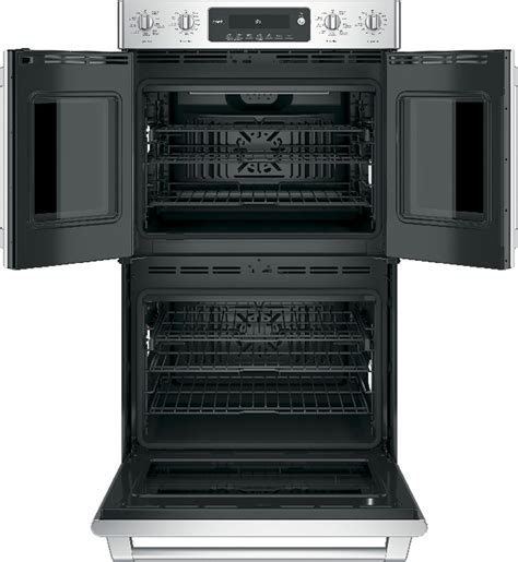 ctslss cafe   french door double oven wi fi connect stainless steel