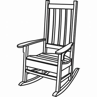 Rocking Chair Drawing Porch Chairs Clip Clipartmag