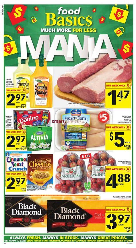 basics of cuisine food basics flyer october 29 to november 4