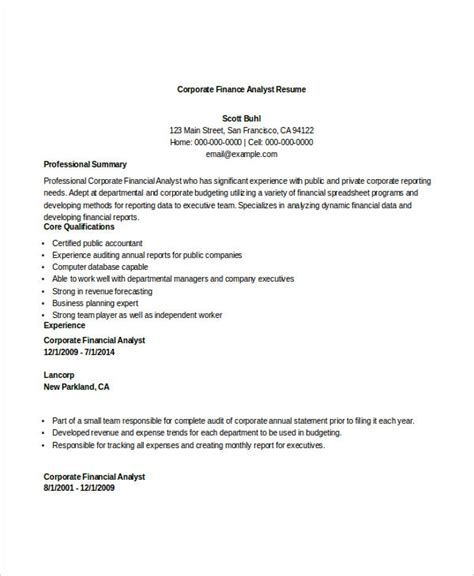 Financial Analyst Resume Template Free by 28 Finance Resume Templates Pdf Doc Free Premium