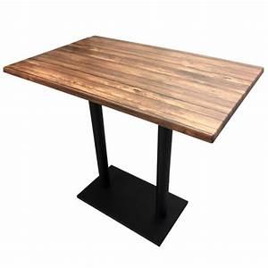 Table Bois Rectangulaire : table haute restaurants ~ Teatrodelosmanantiales.com Idées de Décoration