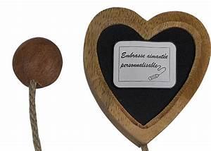 Embrasse Rideau Originale : embrasse c ur bois aimant e personnalisable embrasse aimant e pour rideau ~ Teatrodelosmanantiales.com Idées de Décoration