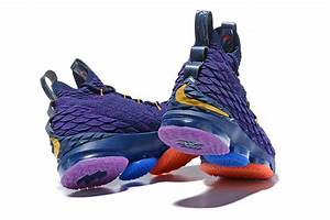 2017 Cheap Nike LeBron 15 Purple Rainbow For Sale | New ...
