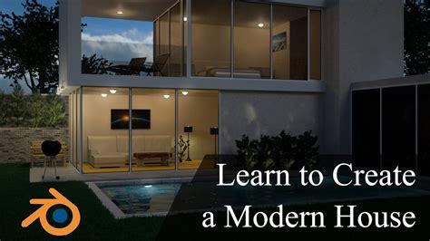 create design  modern  house  blender promo youtube