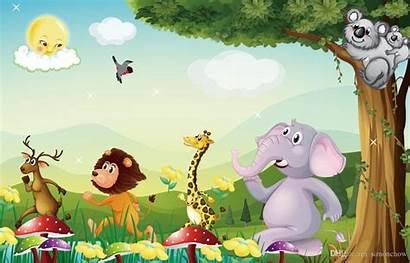 Animals Cartoon Wallpapers Children Backgrounds Tv Itl