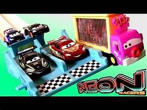 Cars Neon Racers Neon Nights Track Set 2014 NEW Metallic