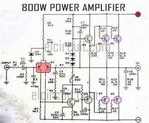 800w Power Amplifier Circuit