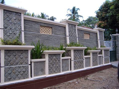 desain pagar rumah  batu alam rumah minimalis