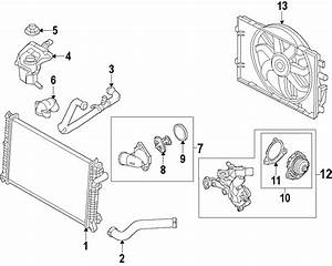 Mercury Milan Radiator Coolant Hose  3 0 Liter  Fusion