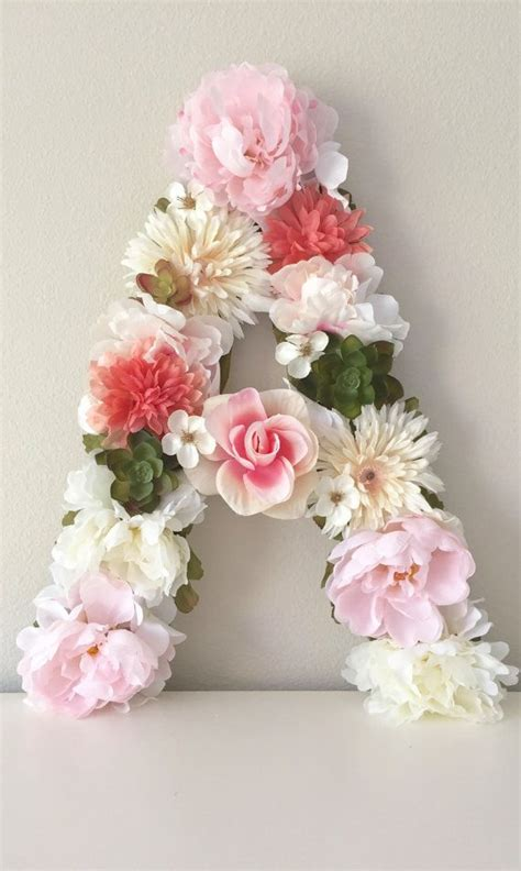 custom letter flower letter floral letter baby shower
