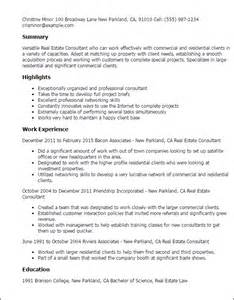 real estate description for resume professional real estate consultant templates to showcase your talent myperfectresume