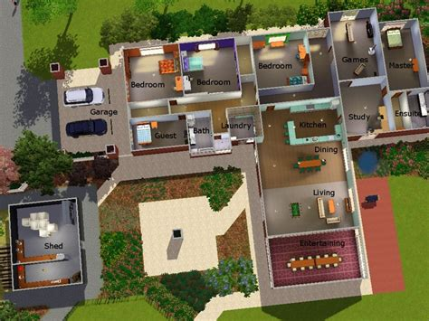 3 home plans sims 3 house plans sims 3 modern house plans cool house