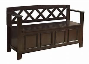 Amazon com: Simpli Home Amherst Entryway Storage Bench