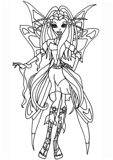 winx club diana coloring page  printable coloring pages