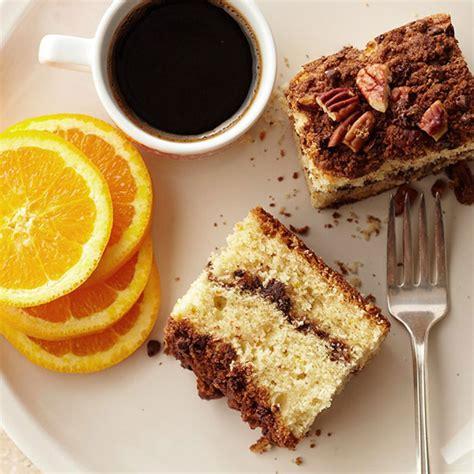sour orange coffee cake with chocolate streusel