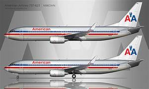 American Airlines Boeing 737 800 Drawing