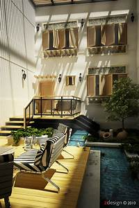 Courtyard, Design, And, Landscaping, Ideas