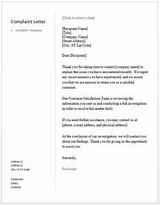 sample complaint response letter free sample letters With replying to a complaint letter template