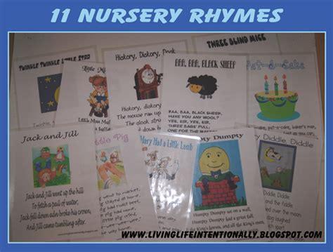 nursery rhymes tot series  printables