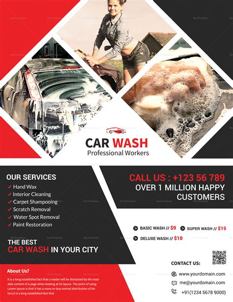 8 transparent png illustrations and cipart matching car wash flyer. Red and Black Car Wash Flyer Design Template in Word, PSD ...