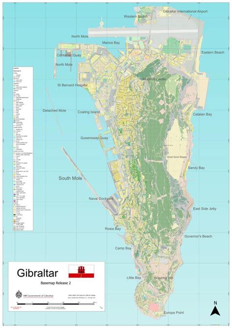 large detailed map  gibraltar