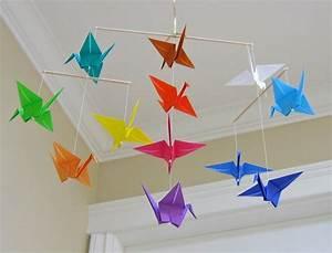 Mobile Bébé Original : origami facile 100 animaux fleurs en papier et d co maison oiseau origami origami facile ~ Teatrodelosmanantiales.com Idées de Décoration