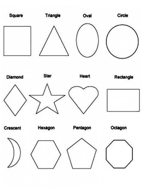 shape coloring pages attribute shapes printable sheets coloring pages