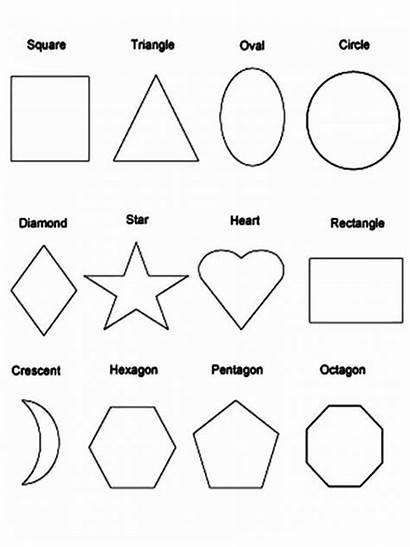 Shapes Coloring Printable Shape Sheet Template Adults