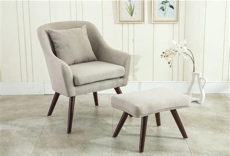Mid Century Modern Design Armchair Chair Footstool Living