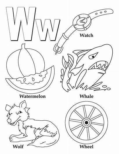 Words Coloring Pages Alphabet Letter Printable Phonics