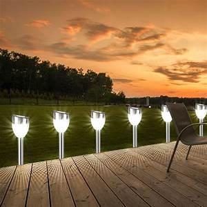 Lampen Für Terrasse : 2er set led garten leuchte au enleuchten solar stecklampen lampen terrasse licht ebay ~ Sanjose-hotels-ca.com Haus und Dekorationen
