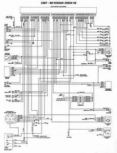Diagram  1988 Nissan Pulsar Nx Service Shop Repair Set