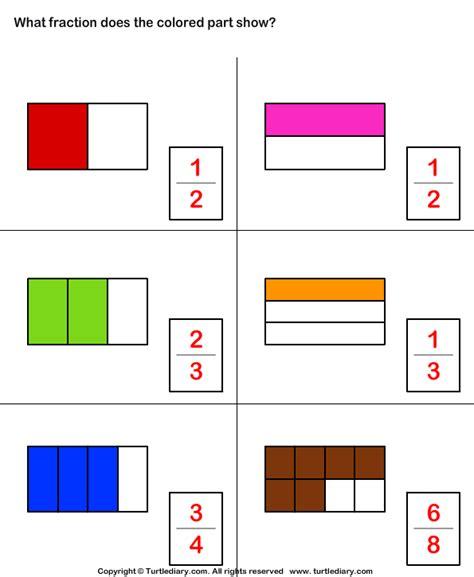 Fraction Shapes Shaded Worksheet  Identifying Fractions Enchantedlearning Coloring Shapes The