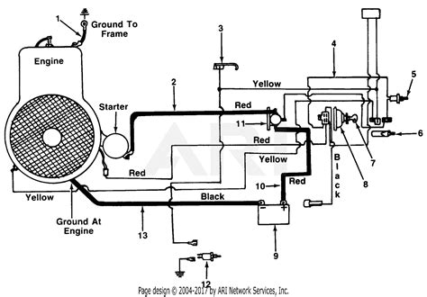 mtd mtd lawnflite    parts diagram  electrical