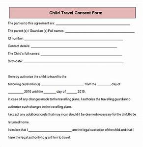 Consent for minor child to travel gallery download cv letter and format sample letter for Free child travel consent form