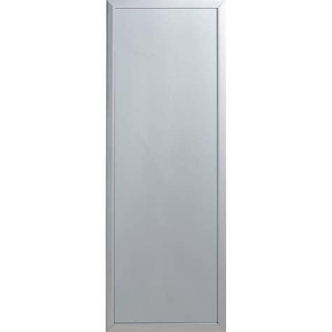 miroir de porte 224 suspendre coloris argent 30x90 cm leroy merlin