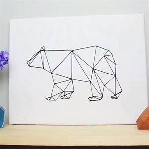 DIY Geometric Bear Art DIY Projects 4 You! :)