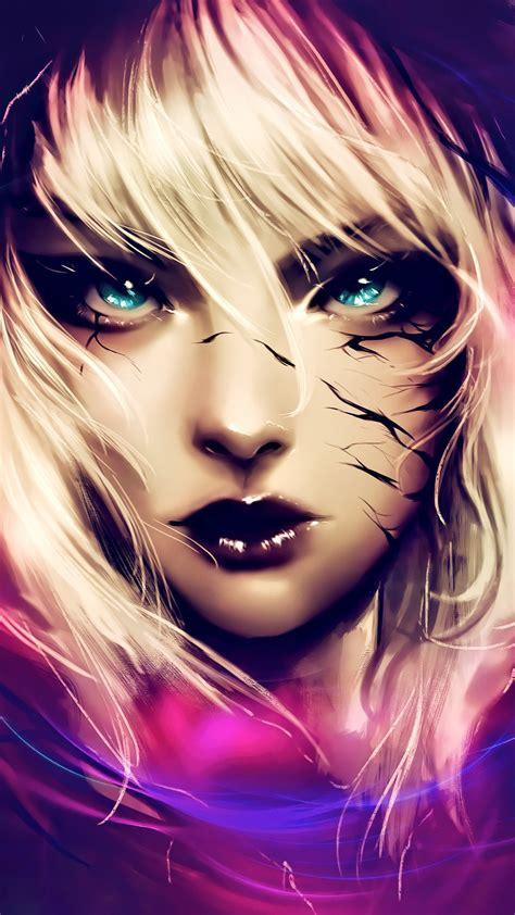 wallpaper fantasy girl gwenom digital art  creative