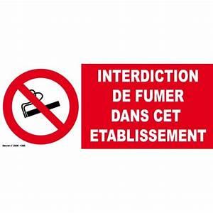 Panneau Interdiction De Fumer : panneau d 39 interdiction de fumer dans cet tablissement ~ Melissatoandfro.com Idées de Décoration