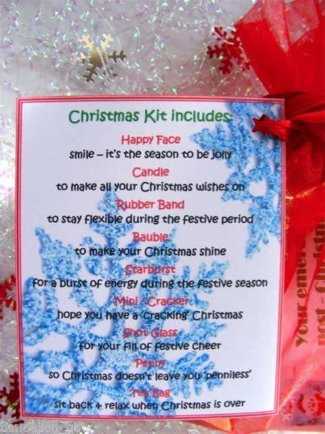 personalised secret santa christmas survival kit gift card