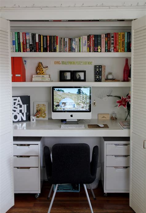 15 Closets Turned Into Spacesaving Office Nooks