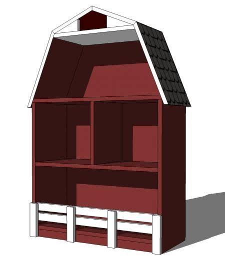 ana white build  barn dollhouse small   easy