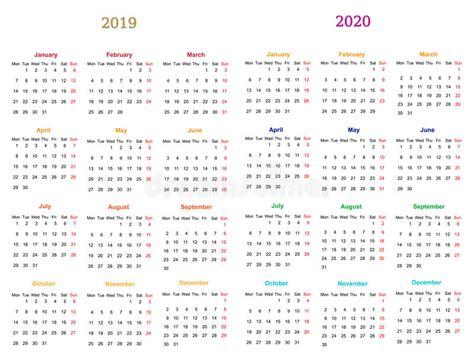 month calendar design stock vector illustration icon