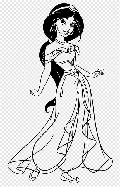 Disney Jasmine Princess Coloring Drawing Walt Clipart